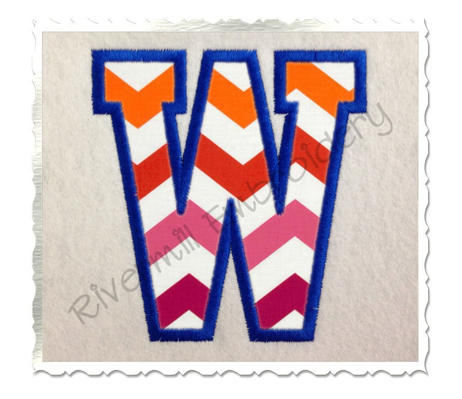Varsity collegiate applique machine embroidery font monogram for Varsity letter applique