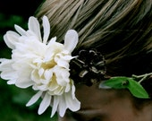 Woodland hair wreath, whimsical hair wreath, flower hair crown, woodland bride hairpiece, flower headband, bride flower crown