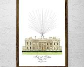 "A3 16.5 x 11.5"" Venue Illustration Fingerprint Guest Book - up to 150 guests"
