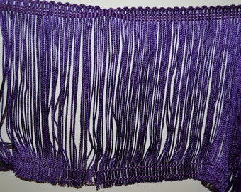 Fringe Purple Rayon 6 Inches Long