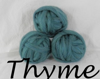 Wool roving inThyme, 1 ounce wool roving for needle felting, wet felting, spinning, 1 oz wool roving sampler, colored wool sampler