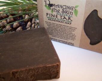 Natural Pine Tar Handmade Lye Soap (Vegan & Gluten Free)