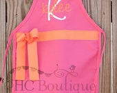 Personalized Child's Apron with Ribbon and Bow