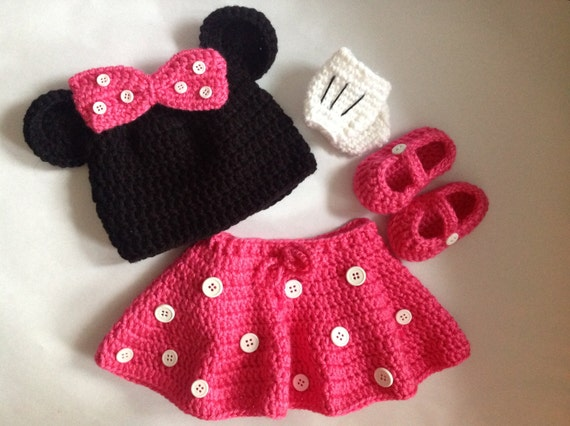 Free Crochet Pattern For Baby Minnie Mouse Outfit : Minnie Mouse Pattern In PDF Tutorial File crochet minnie