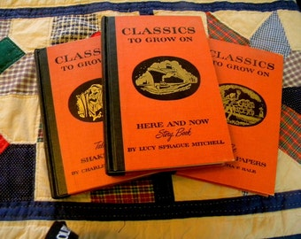 Classics to Grow On book set of 3 family classic midcentury vintage publications