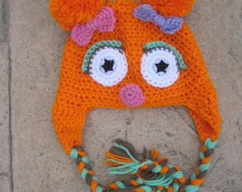 Zoe Monster inspired Earflap Hat