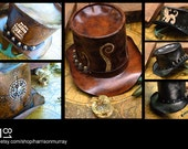 Custom-Made To Order-Leather Theme Top Hats