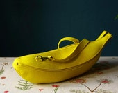 Banana Skin Purse Yellow Felt Bag