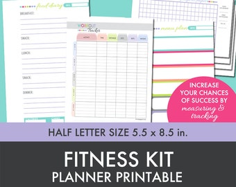 Fitness Planner - Weight Loss - Foo d Diary - Menu Planner - Workout ...