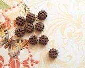 12 pcs clay waffle chocolate miniature