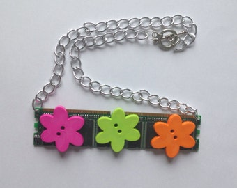 Flower Power Computer Memory Stick Chain Necklace