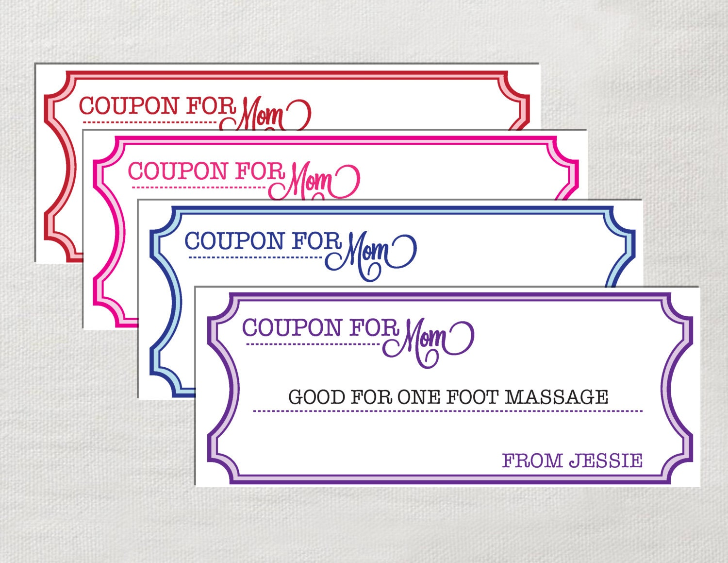 Coupons for mom instant download editable by laurevansdesign for Coupon template for pages