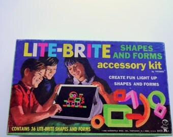 Vintage Lite-Brite Shapes and Forms Accessory Kit 1968