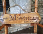 """Family Laser Engraved Sign """"A"""""""