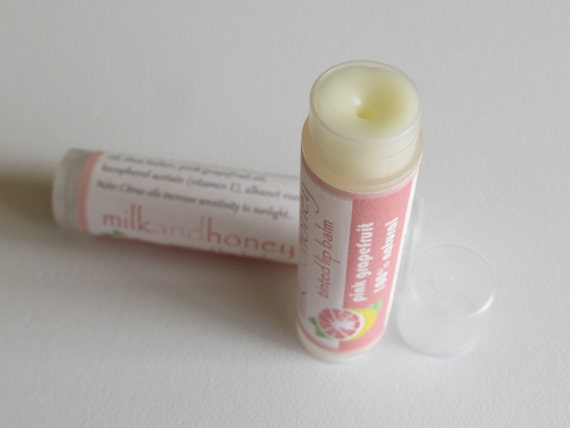 Pink Grapefruit Lip Balm - All natural - Buy 3, Get 1 Free