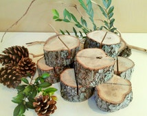 TREASURY ITEM - 50 Wood place card holders - Rustic Wedding Decor - Table numbers - Menu holder - Table settings - Party events