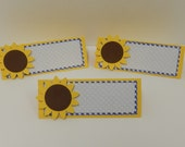 SUNFLOWER Buffet Table Cards Place Cards Set of 6