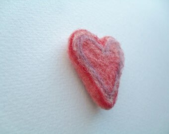 Small heart needle felted