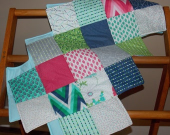 Color Me Happy quilted tablerunner.  Moda Fabric tablerunner.