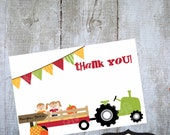 Pumpkin Patch or hayride  4 x 6  Thank You Note Printable Invitation by Luv Bug Designs