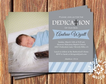 Baby Dedication Invitations •Pick two colors
