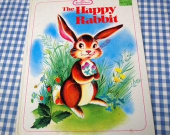 the happy rabbit, vintage 1963 children's book