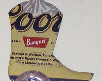 WESTERN BOOT Magnet - Coors Beer Can