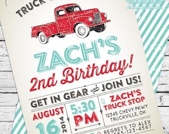 Vintage Truck Invitation