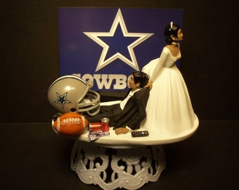 Dallas Cowboys Wedding Cake Topper Bride Groom By Finsnhorns
