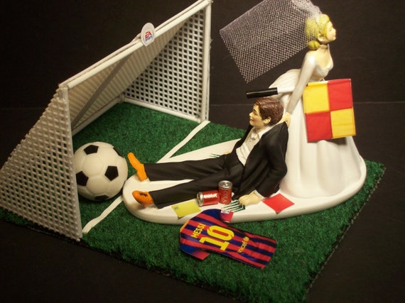 NO Football Soccer Futbol FIFA Bride And Groom Messi With Goal