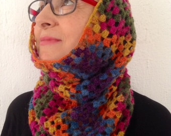 Crochet Colorful Neck and Ear Warmer - Ready for Shipping