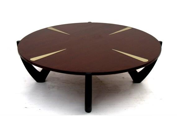 MId Century Modern Round Coffee Table Ico Parisi Era By AMBIANIC