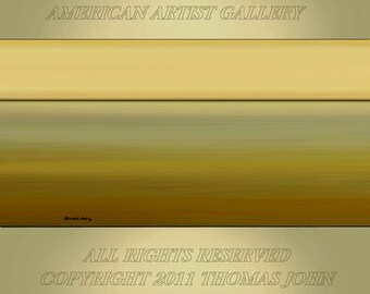 ORIGINAL PAINTING Abstract Landscape Large 24X48 Gallery Wrap Canvas Modern Art  By Thomas John