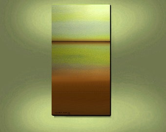 ORIGINAL PAINTING  Modern Abstract Large 24X48 Landscape By Thomas John