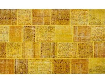 Patchwork rug Yellow 113