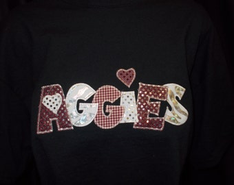 Applique Aggie Shirt
