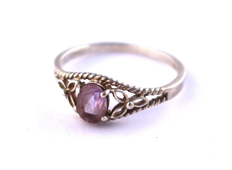 avon amethyst sterling silver ring size 10