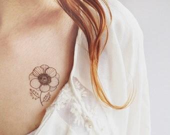 Anemone temporary tattoo