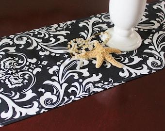 Black Table Runner Table Cloth Wedding Runner Buffet Premier Prints Ozborne Damask Buffet Runner