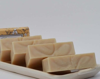 Buttermilk Unscented Handmade Soap ~ Natural Soap, Facial Soap, Gentle Baby Soap