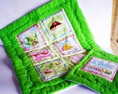 Baby quilt blanket olive strawberry cake set with pillow