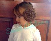 Princess Leia Hair Buns on Alligator Clips