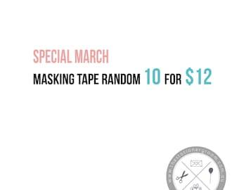 Masking Tape Goodie Bag  - Japanese Washi Tape Surprise Bag - Random 10 Pack
