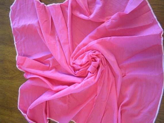 Lightweight Gauze Swaddle Blanket - Extra Large Handmade Hot Pink