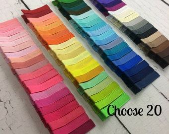20 Simple Alligator Clips, You Choose From 85 Colors, Starter Set, Babies Toddler Girl Women