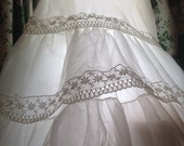 Crinoline White Vintage Slips ( 2 sold separately ) Tiered with Lace Medium