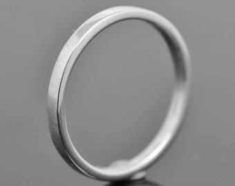 14K palladium white gold ring, 2mm X 1mm, flat, wedding band, wedding ring, square, mens ring, his and hers, size up to 9