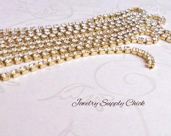2.5mm Preciosa Crystal rhinestone chain (2')