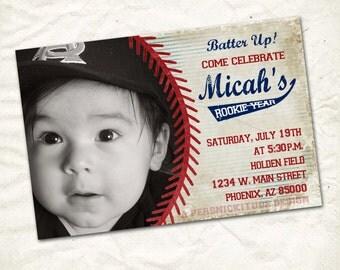 baseball first birthday invite printable file