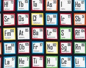 Multi Color Periodic Table of Elements from Robert Kaufman